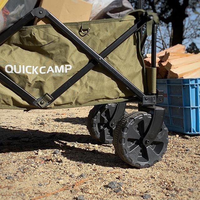 キャンプギアQUICK CAMP(クイックキャンプ)のアウトドアワゴンタイヤが大きくてどんな段差もなんのその!布は取り外しが可能だし、変えの布も別売であるので汚れても安心^_^心強いキャンプのお供です岐阜の会社でよく大津谷キャンプ場にも来るそうなので、ゆっくり話を聞きたいな〜 #キャンプ #キャンプギア #キャンプ好きな人と繋がりたい #冬キャンプ #キャンプ道具 #キャンプ用品 #アウトドア #アウトドア好きな人と繋がりたい #アウトドア用品 #アウトドアギア #アウトドアブランド #quickcamp #大津谷公園キャンプ場 #レザクト #leathact #キャンプワゴン #アウトドアワゴン